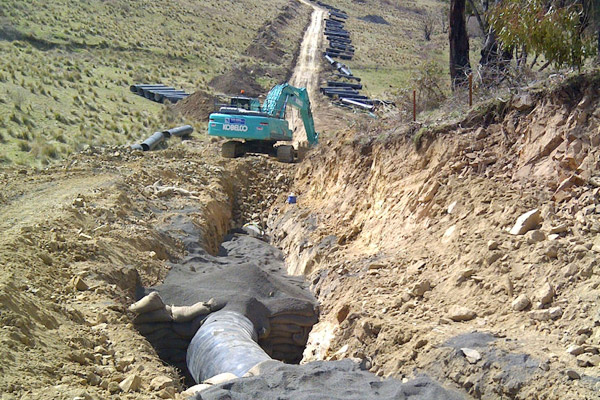 fish river steel pipeline construction