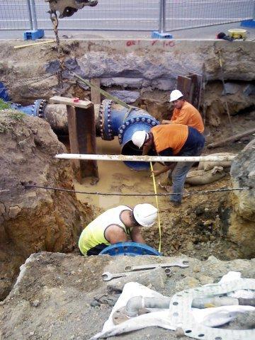 Construction of Cardiff Sewermain